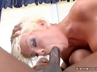 yellowish hair Jordan Blue comes by owned interracially in her vagina by hot man