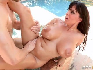Erik Everhard seduces Holly Halston into penetrating more than that inserts his sausagein her honey