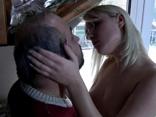 ight golden-haired youthful comes into fucked by an old guy