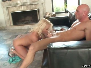 moll Vain takes Johnny Sinss cum obese meat bar in her arousing face hole