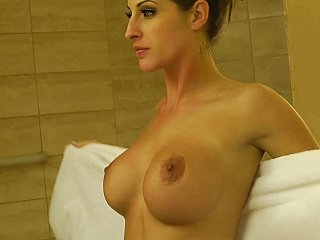 Kortney Kane showeing after all having act of sexual procreation