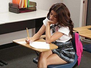 gorgeous schoolgirl caning her professor
