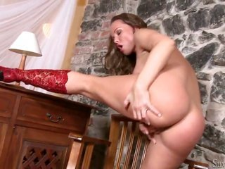 Silvia Saint can't stop playing with her cum guzzling gutter slut