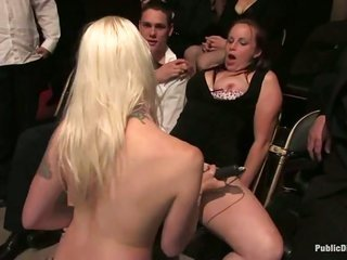 bound cum guzzling gutter slut coarse lesbo drill with facesitting and foot drill