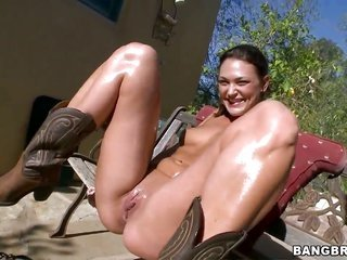 Olivia Wilder with mountainous arse on top of horney gent are in the mood for interracial screwing