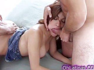 easily sweet lalin girl sucking three cocks