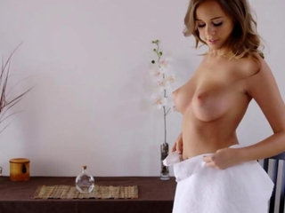 Nubile series - impure masssage leads to cum covered titties