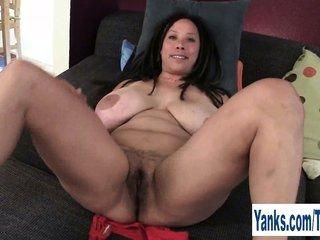 curvy MILF Shannon Rubbing Her bushy cooter