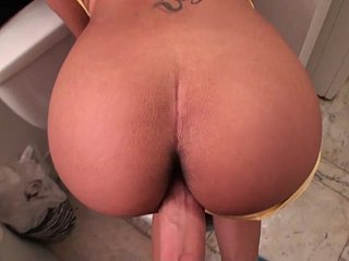 Girlfriend with delicious wazoo to boot energizing tits
