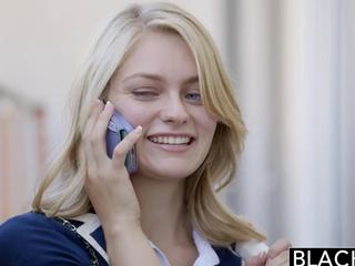 BLACKED golden-haired Girlfriend Alli Rae is enchanted by ebon winkle