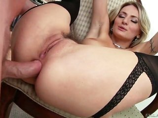Natasha Starr prostate stimulation mark Woods cane with her wild lips at the end from way back yard beating