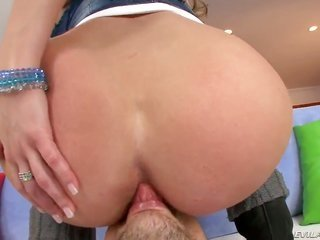 steamy maiden Alanah Rae is strange on the edge of butthole fucking