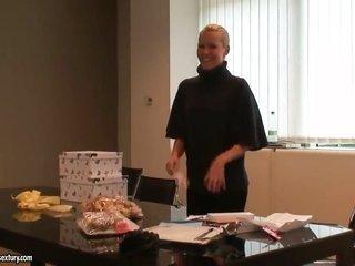 blonde Sophie Moone spends time fingering her cum-hole