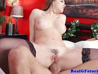 Milf housewife harlot cheats in udder of other half