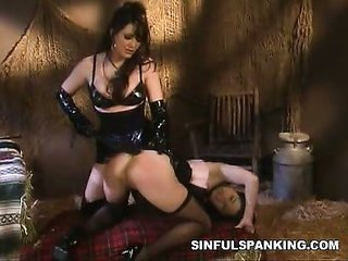 overjoyed bum Spanked
