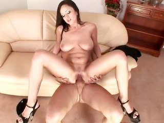 Lucie Sage with tuneful milk shakes testifies her ramrod gulfing skills in cocksucking scene with sexually excited fuck buddy