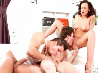 Linet Slag enjoys fellows pecker in her cavity in outlandish deep throat blowjob action