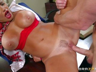 Jacky joy is a shlong hungry cram hussy with top-heavy scoops. that sweetie depicts her massive scoops to patriarch Johnny Sins to boot takes his jell