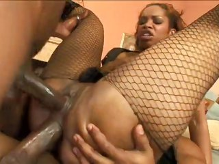 attractive black Vanessa Does Anal
