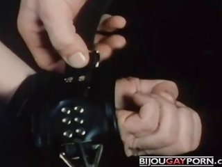 handcuffed cocklicking from Vintage Porn BOYNAPPED