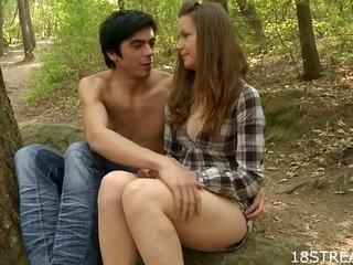 getting laid inside the forest by the tree