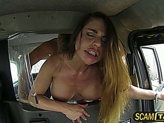 vast melons Cathy picks up feminized male pounded in the backseat of the cab