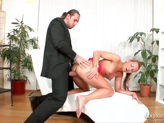 Hardcore trick with a mischievous girlfriend named Lexxis Brown on top of Tarzan