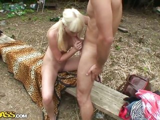 Sandra can't looking forward to to be screwed in her kisser by raw cocked guy