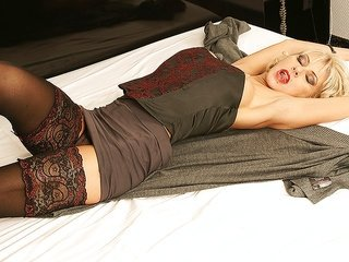 Old hooker with lengthy nails is fingering her soggy pussy breach like maniac