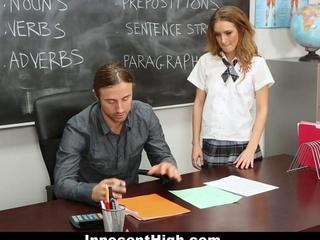 InnocentHigh - gay Schoolgirl fornicates for the sake of The Grade!