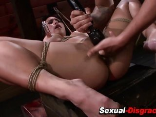 throat messed up together with bound asian