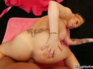 juicy Manson with gross mounds having aroused lovemaking with curvacious dude Bill Bailey