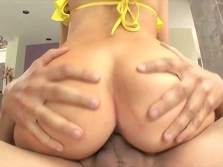 fair-haired floosie in yellow knickers got uncovered to have a good fucking