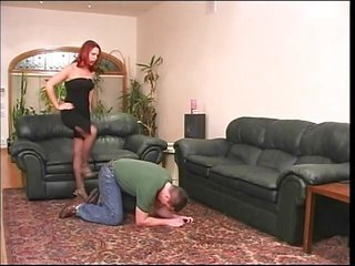 hot Redhead in hose playing with her fellow