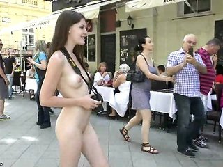 gorgeous Enni moans her adorable nude body in public