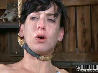 Gagged mademoiselle's pussy is individual buggered viciously by hard rod