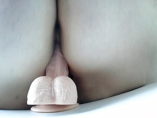 Bouncing on a tool penis